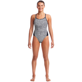 Funkita Diamond Back One Piece Badeanzug Damen snow leaf